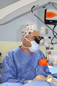 Dr. Marvin Greenberg in surgery